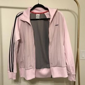 VINTAGE Adidas Climalite Jacket Pink and Navy